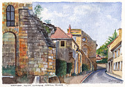 Small French Village Posters - Souvigny Eclectic architecture in a village in Central France Poster by Dai Wynn