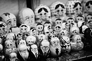 Yeltsin Prints - Soviet And Russian Matryoska Dolls On Sale On A Street Stall Print by Joe Fox