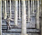 Letters Reliefs - Sower in the wooda by Paolo Beneforti
