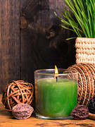 Relaxing Photo Prints - Spa Candle Print by Edward Fielding