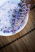 Mythja  Photography - Spa setting with lavender bath salt