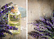 Aroma Posters - Spa with lavender  Poster by Mythja  Photography