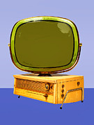 Television Mixed Media - Space Age Philco by Dominic Piperata