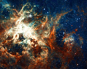 Telescope Images Prints - Space Fire Print by The  Vault