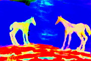 Empathy Paintings - Space for horses by Hilde Widerberg