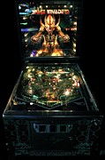 Science Fiction Photo Metal Prints - Space Invaders by Bally Metal Print by Benjamin Yeager
