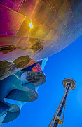 Fun Posters - Space Needle and EMP in perspective HDR Poster by Scott Campbell