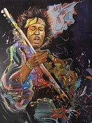 Jimi Hendrix Prints - Space Rocker Print by Erik Franco