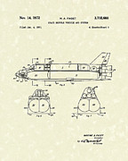 System Drawings Framed Prints - Space Shuttle 1972 Patent Art Framed Print by Prior Art Design