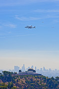 David  Zanzinger - Space shuttle Endeavour and chase planes over the Griffith Observatory