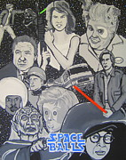 Caricature Paintings - Spaceballs Caricature by Gary Niles