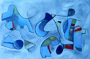 Musical Notes Painting Originals - Space.Between.Notes by Danielle Nelisse