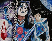 Ace Frehley Posters - Spaced Poster by Jeremy Moore