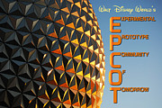 Travelpixpro Framed Prints - Spaceship Earth Sunset Profile EPCOT Walt Disney World Poster Framed Print by Shawn OBrien