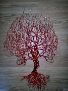 Wire Tree Sculptures - Spade Leaf by Brian Boyer