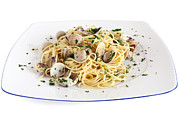 Spaghetti Noodles Prints - Spaghetti With Clams Print by Antonio Scarpi