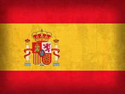 Spain Flag Vintage Distressed Finish Print by Design Turnpike