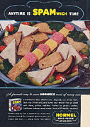 Spam 1950s Usa Hormel Meat Tinned Print by The Advertising Archives