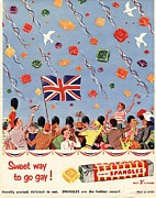 Candy Drawings - Spangles 1953 1950s Uk Coronation by The Advertising Archives
