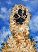 Dog Paw Paintings - Spaniel Paw by Betsy Doody