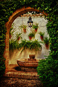Old Street Metal Prints - Spanish Fountain in Cordoba Metal Print by Levin Rodriguez
