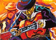 Timing Painting Framed Prints - Spanish Guitarist Framed Print by Jonathan Tyson