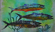 Gyotaku Prints - Spanish Mackerel Print by Brenda Alcorn