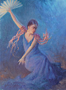 Dancer Art Prints - Spanish Nights Print by Ernest Principato