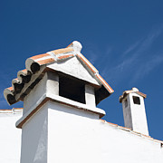 Rooftop Prints - Spanish Rooftops Print by Anne Gilbert