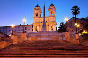 Spanish Steps Dawn Print by Brian Jannsen