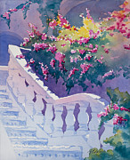 Steps Painting Originals - Spanish Steps by Vicky Russell
