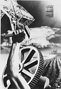 Industry Photos - Spanish War Poster c1935-1942 proclaiming strength in industry and agriculture by Anonymous