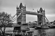 Tower Of London Photos - Spanning the Thames by Heather Applegate