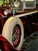 Automobiles Metal Prints - Spare Tire Metal Print by Susan Savad