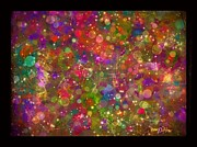 Painty Digital Art - Sparkle Garden by Nancy Aikins