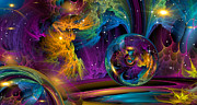 Fractal Worlds Prints - Sparkle Print by Phil Sadler