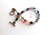 Foundation Jewelry Prints - Sparkles of Hope Cancer Bracelet Print by Barbara Griffin