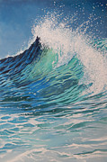 Spray Paintings - Sparkling Turquoise by Arie Van der Wijst