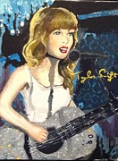 Taylor Swift Art - Sparks Fly by Alana Meyers