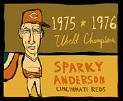 Hall Of Fame Framed Prints - Sparky Anderson II Framed Print by Jay Perkins