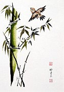 Bill Searle - Sparrow and Bamboo