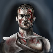 Andy Digital Art Prints - Spartacus Champion of Capua Print by Vinny John Usuriello