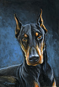 Doberman Paintings - Spartacus by Richard De Wolfe