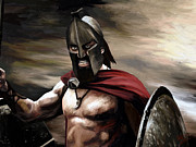 Portraits Art - Spartan by James Shepherd
