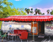 Airstream Prints - SPARTAN MANOR Palm Springs Print by William Dey