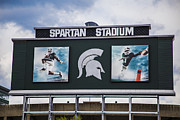 Scoreboard Framed Prints - Spartan Stadium Scoreboard  Framed Print by John McGraw