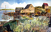 Fishing Shack Paintings - Spartina by Jim Norman