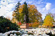 Spartans Prints - Sparty in Autumn  Print by John McGraw