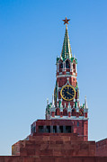 Chimes Posters - Spasskaya Tower of Moscow Kremlin - Featured 3 Poster by Alexander Senin