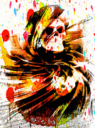 Spattered Prints - Spattered Skull Print by Michael Knight